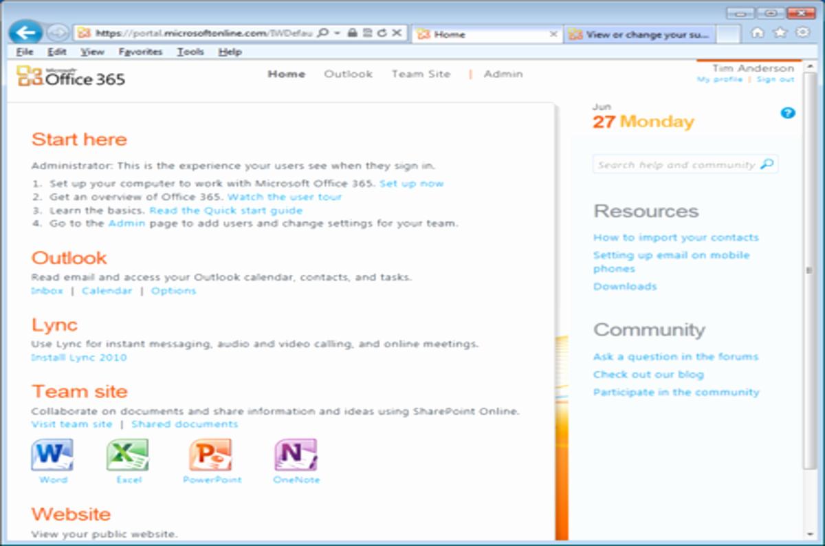 office portal 365 login