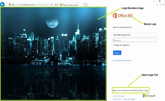 Microsoft 365 Online Sign In Fresh How to Brand Your Fice 365 Sign In Page