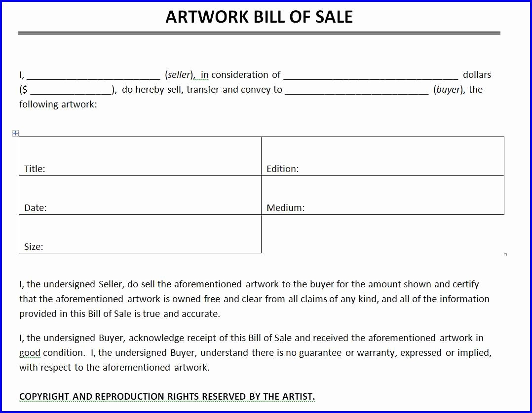 Microsoft Bill Of Sale Template Best Of Artwork Bill Of Sale Template Ms Word Templates Ms