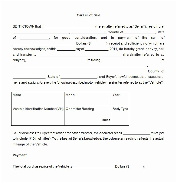 Microsoft Bill Of Sale Template Best Of Bill Of Sale Template 44 Free Word Excel Pdf