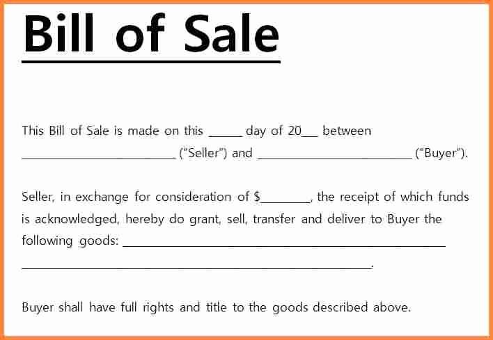 Microsoft Bill Of Sale Template Elegant 7 Free Bill Of Sale Template Microsoft Word
