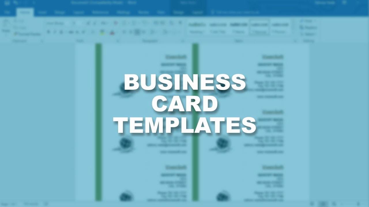 Microsoft Business Card Template Free Beautiful Microsoft Word 2016 Essential Training