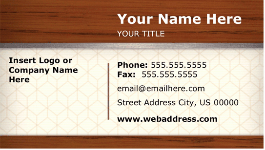 elements of business card design