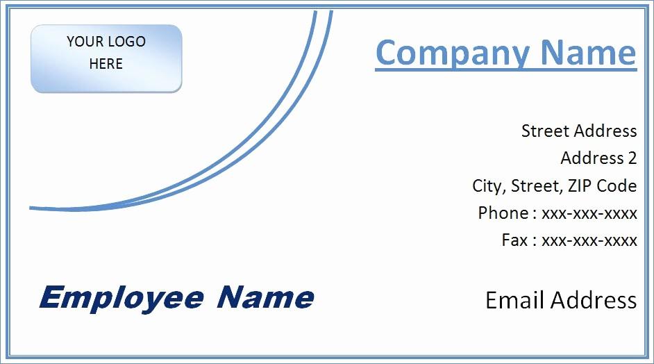 Microsoft Business Card Templates Free Unique Microsoft Word Business Card Template Free