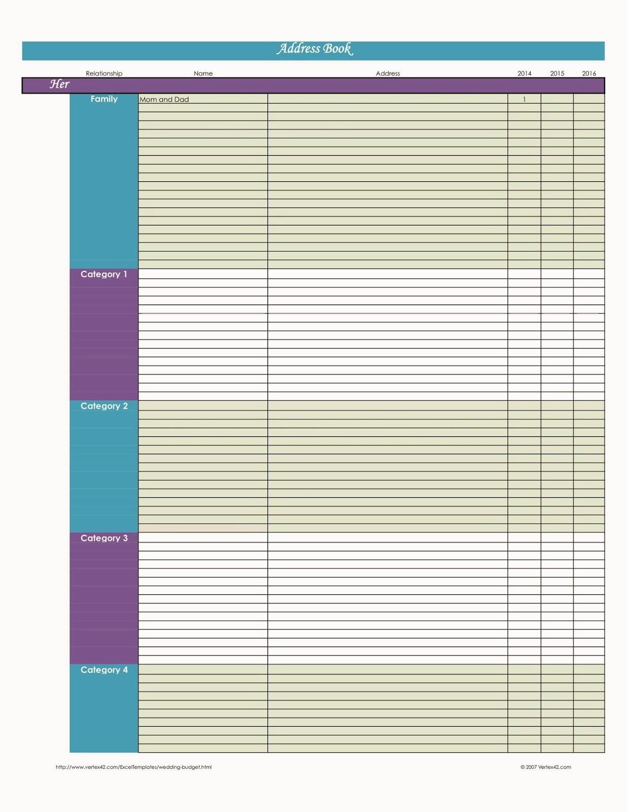 Microsoft Excel Address Book Template Elegant Laura S Plans Easy Excel Address Book Template