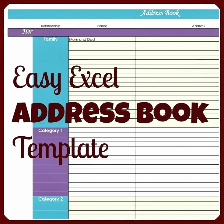 Microsoft Excel Address Book Template Inspirational Excel Contact List Template Excel List Template Excel