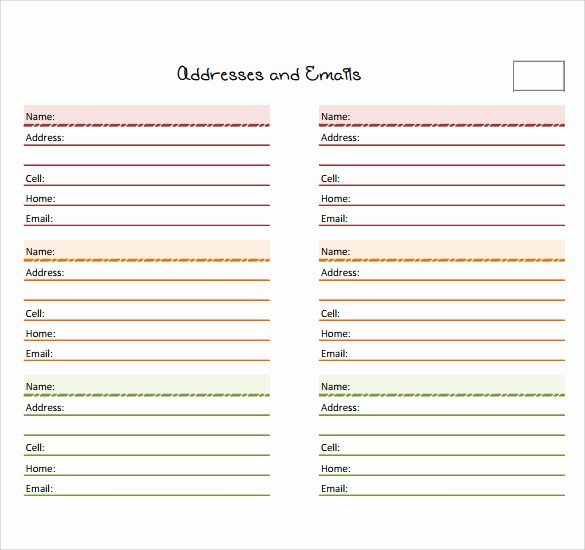Microsoft Excel Address Book Template Lovely 10 Address Book Samples
