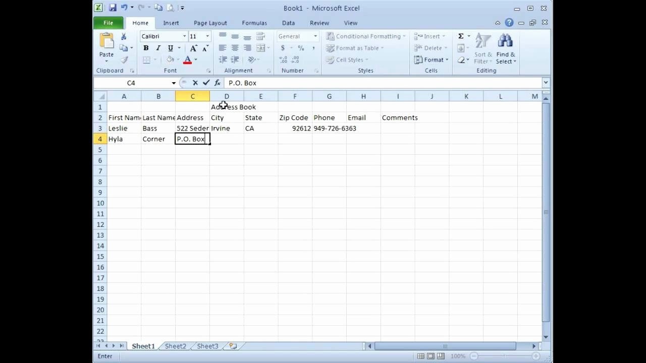 Microsoft Excel Address Book Template Lovely Microsoft Excel Creating An Address Book