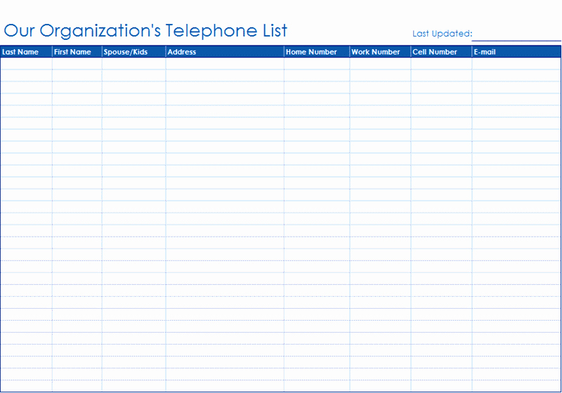 Microsoft Excel Address Book Template New Download Ms Fice organizational Telephone List form