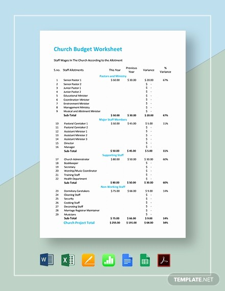 Microsoft Excel Church Budget Template Fresh 18 Bud Templates In Microsoft Excel [download Ready