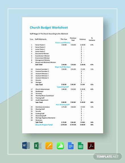 Microsoft Excel Church Budget Template Fresh 18 Bud Templates In Microsoft Excel [download Ready