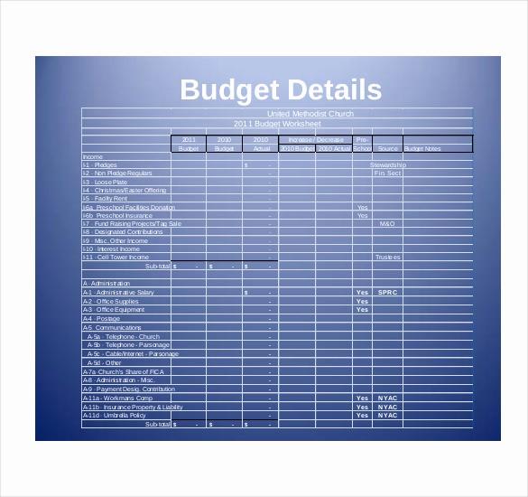 Microsoft Excel Church Budget Template Fresh 9 Church Bud Template Doc Excel Pdf