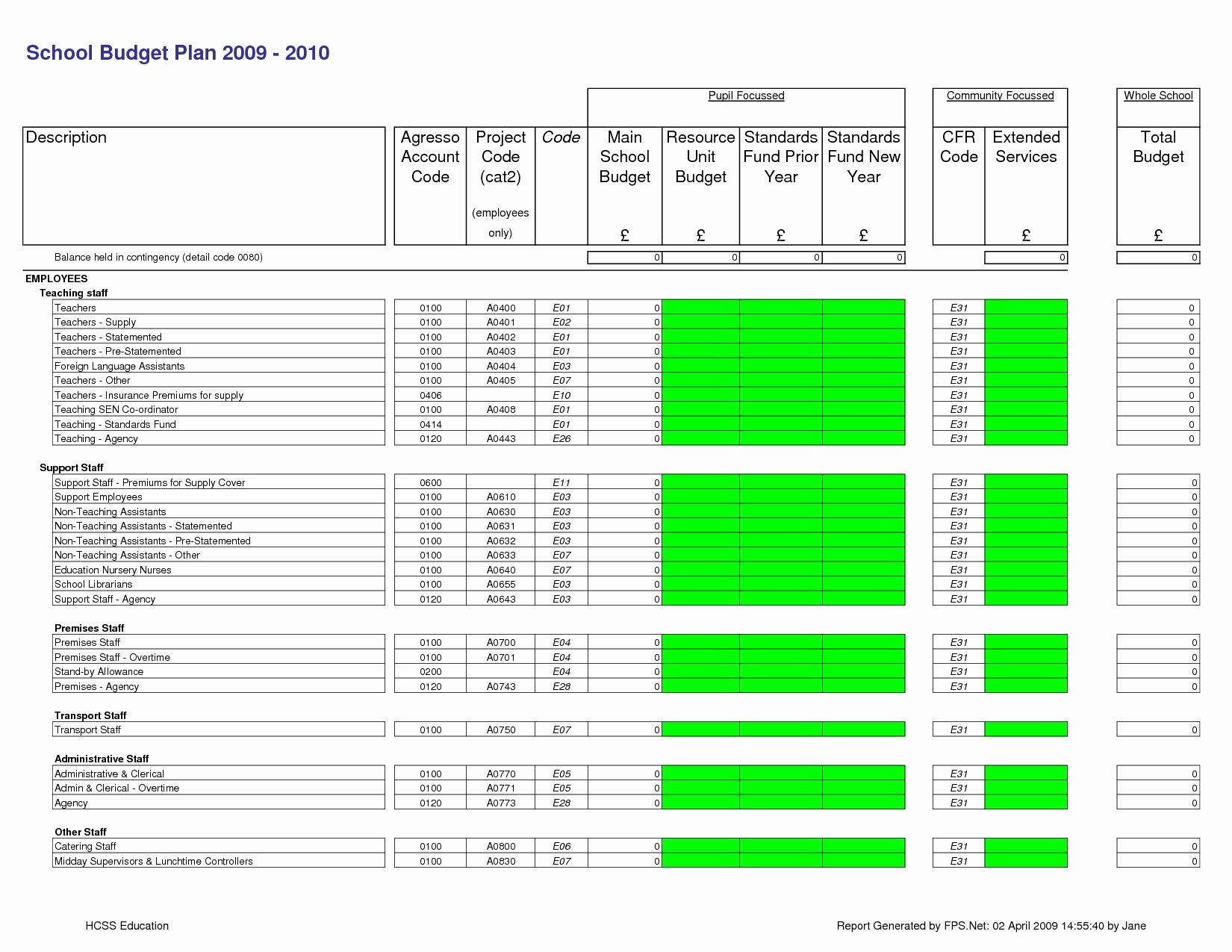 Microsoft Excel Church Budget Template Fresh Church Bud Template Excel Templates