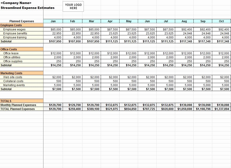 Microsoft Excel Church Budget Template Luxury Streamlined Expense Template