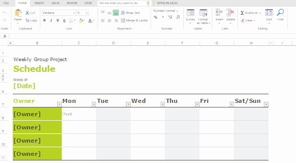 Microsoft Excel Weekly Schedule Template Elegant Group Schedule Templates for Excel