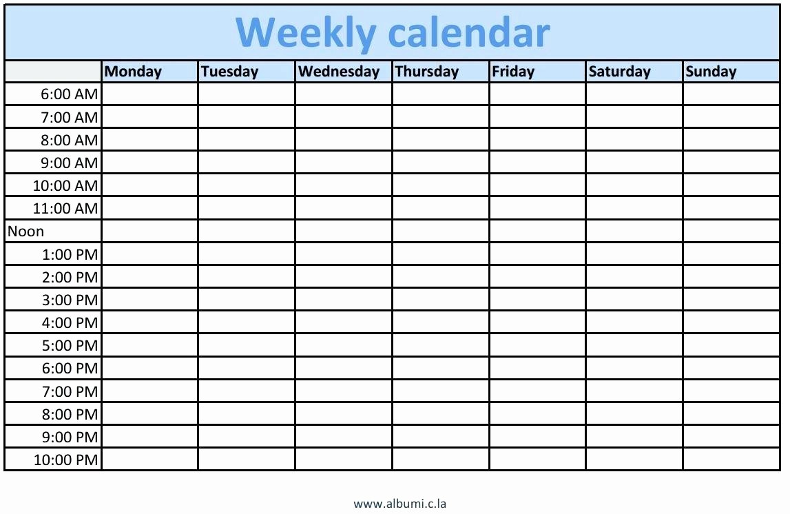 Microsoft Excel Weekly Schedule Template Elegant Template Microsoft Weekly Calendar Template