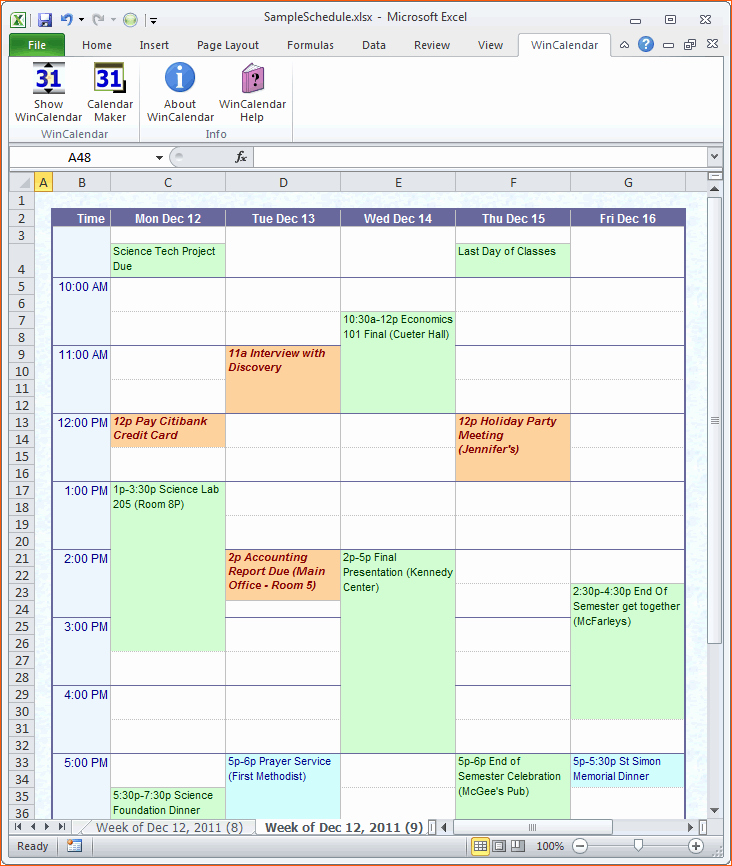 Microsoft Excel Weekly Schedule Template Inspirational 11 Excel Daily Schedule Template