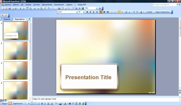Microsoft Free Power Point Templates New Blur Effect Powerpoint Template
