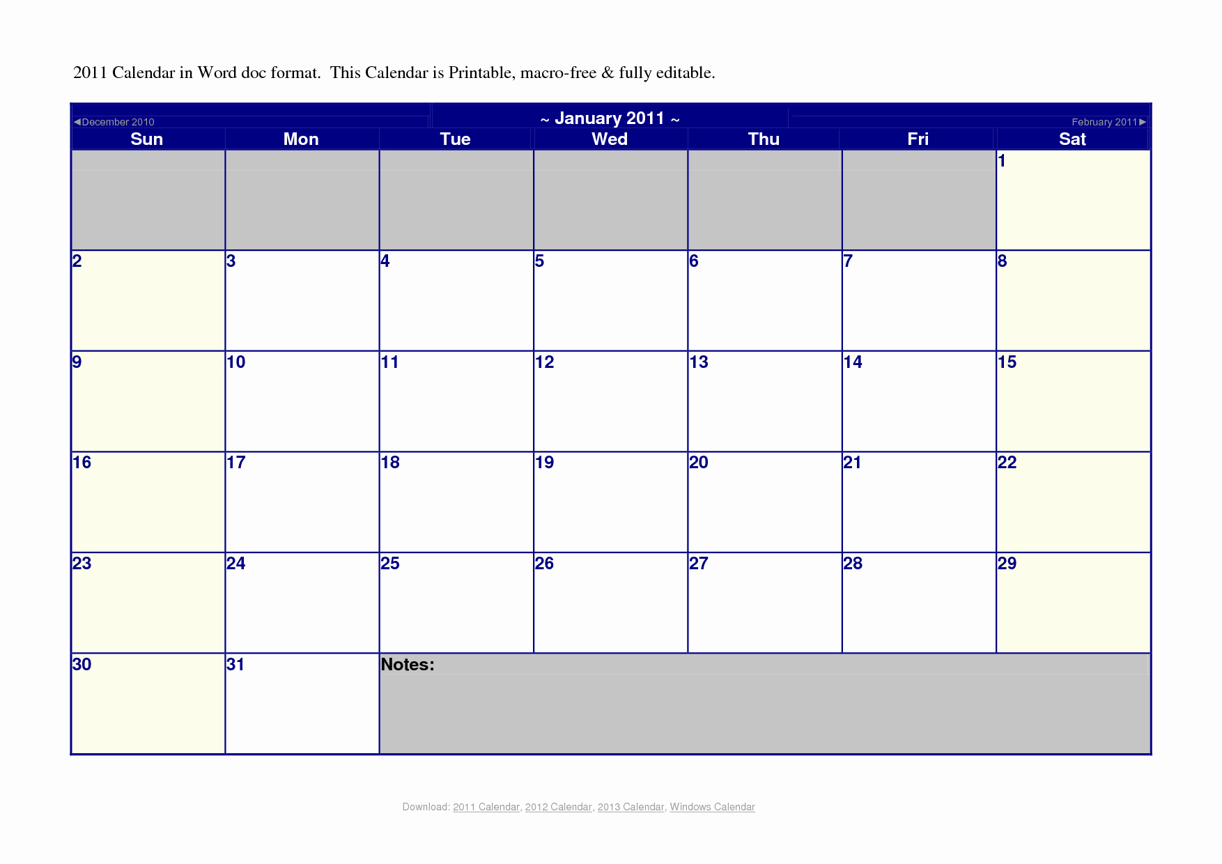 Microsoft Office 2017 Calendar Template Inspirational 2011 Monthly Calendar – 2017 Printable Calendar