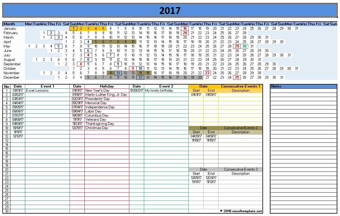 Microsoft Office 2017 Calendar Template Inspirational 2017 Calendar Templates