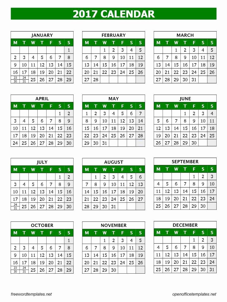 Microsoft Office 2017 Calendar Template Unique 2017 Calendar Template