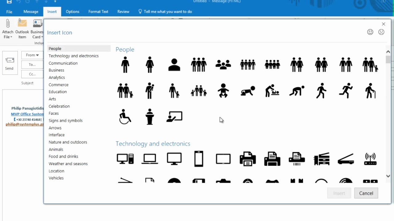 Microsoft Office 360 Sign In Awesome How to Insert and Edit Icons In Microsoft Fice 365