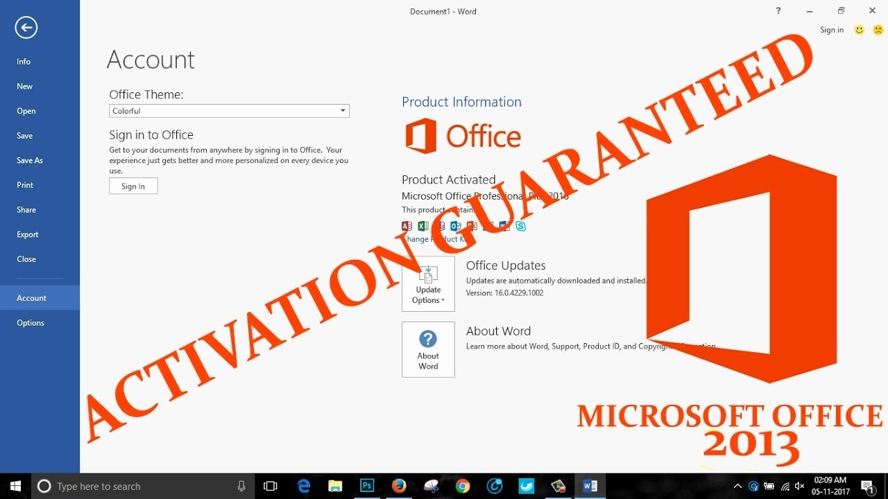 Microsoft Office 360 Sign In Beautiful How to Activate Microsoft Office 2013 without the Product