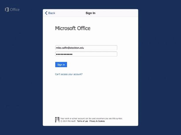 Microsoft Office 360 Sign In Elegant Setting Up Microsoft Fice On Your Ios Device