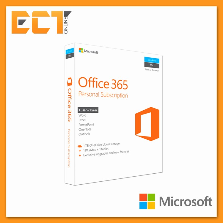 Microsoft Office 365 Subscription Login Elegant Genuine Microsoft Fice 365 Personal 1 User
