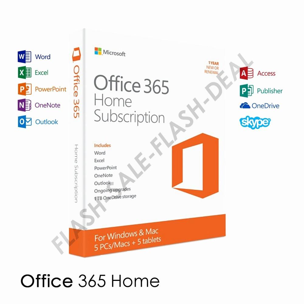 Microsoft Office 365 Subscription Login Fresh Jual Microsoft Fice 365 Home 5 User 1 Year