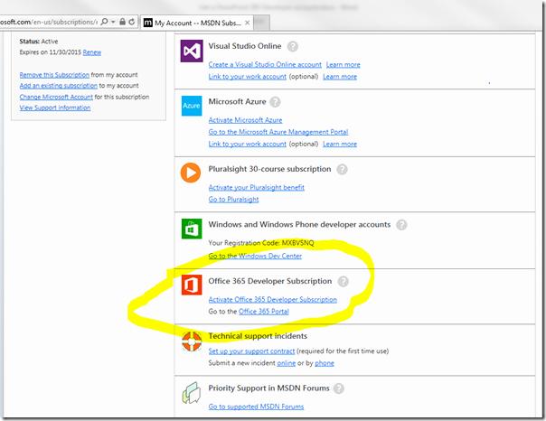 Microsoft Office 365 Subscription Login Unique Get A Point 365 Developer Account asp Net 第七城市