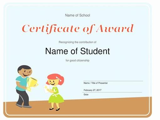 Microsoft Office Award Certificate Template Inspirational Certificates Fice