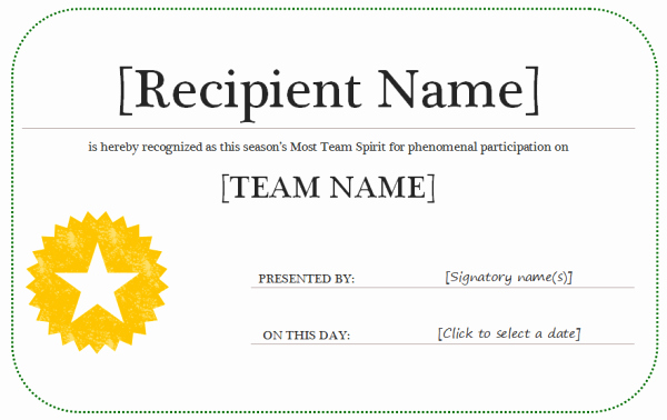 post award certificate template microsoft word