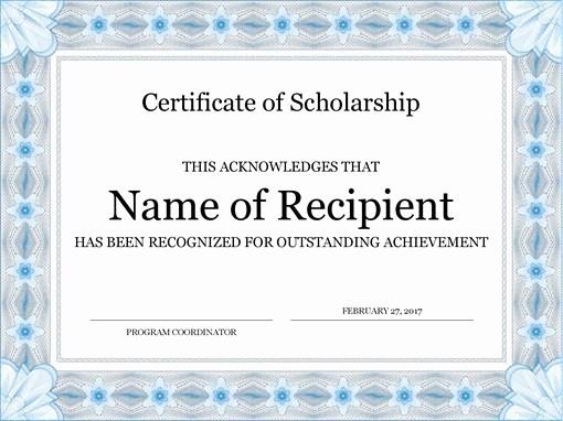 Microsoft Office Award Certificate Template Unique Certificates Fice