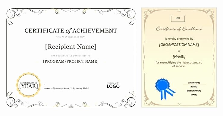 Microsoft Office Award Certificate Template Unique Microsoft Office Certificate Template Microsoft Office
