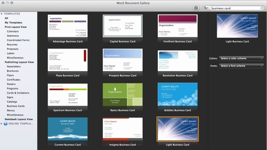 Microsoft Office Business Card Templates Inspirational Fice 365 Line Templates