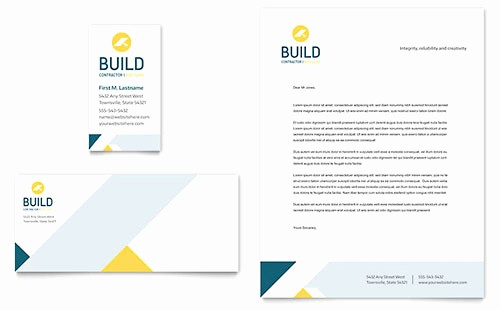 Microsoft Office Business Card Templates New Construction Letterhead Templates Word & Publisher