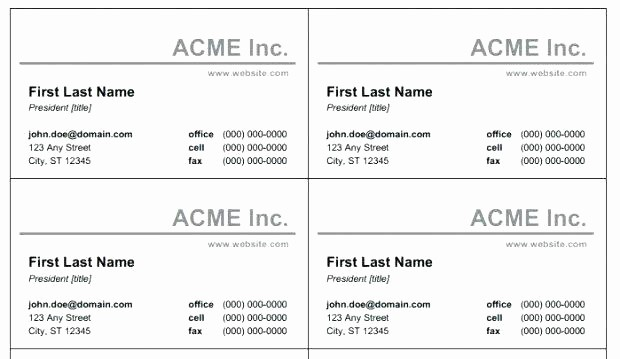 Microsoft Office Business Card Templates Unique Microsoft Fice Business Card Template 6984