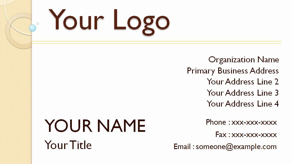 Microsoft Office Business Card Templates Unique Microsoft Powerpoint Card Template Free Powerpoint Draft
