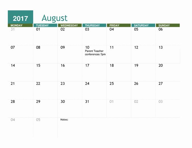 Microsoft Office Calendar Template 2017 Beautiful Microsoft Word Calendar Template