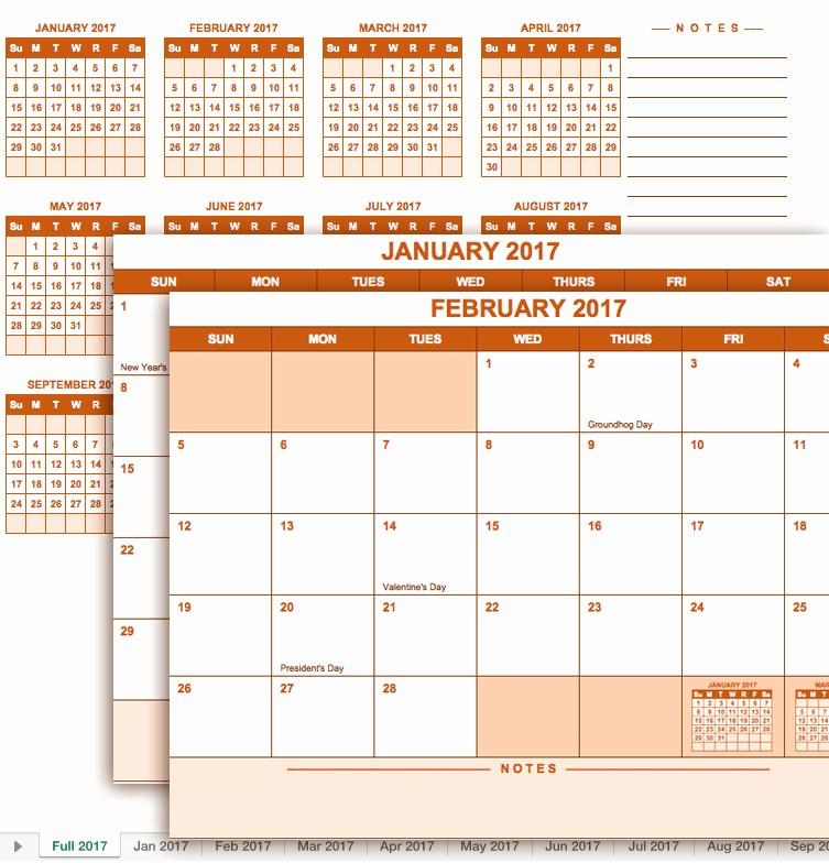 Microsoft Office Calendar Template 2017 Elegant Szerezd Be Excel Naptár 2017 Azonnal Használható Excel