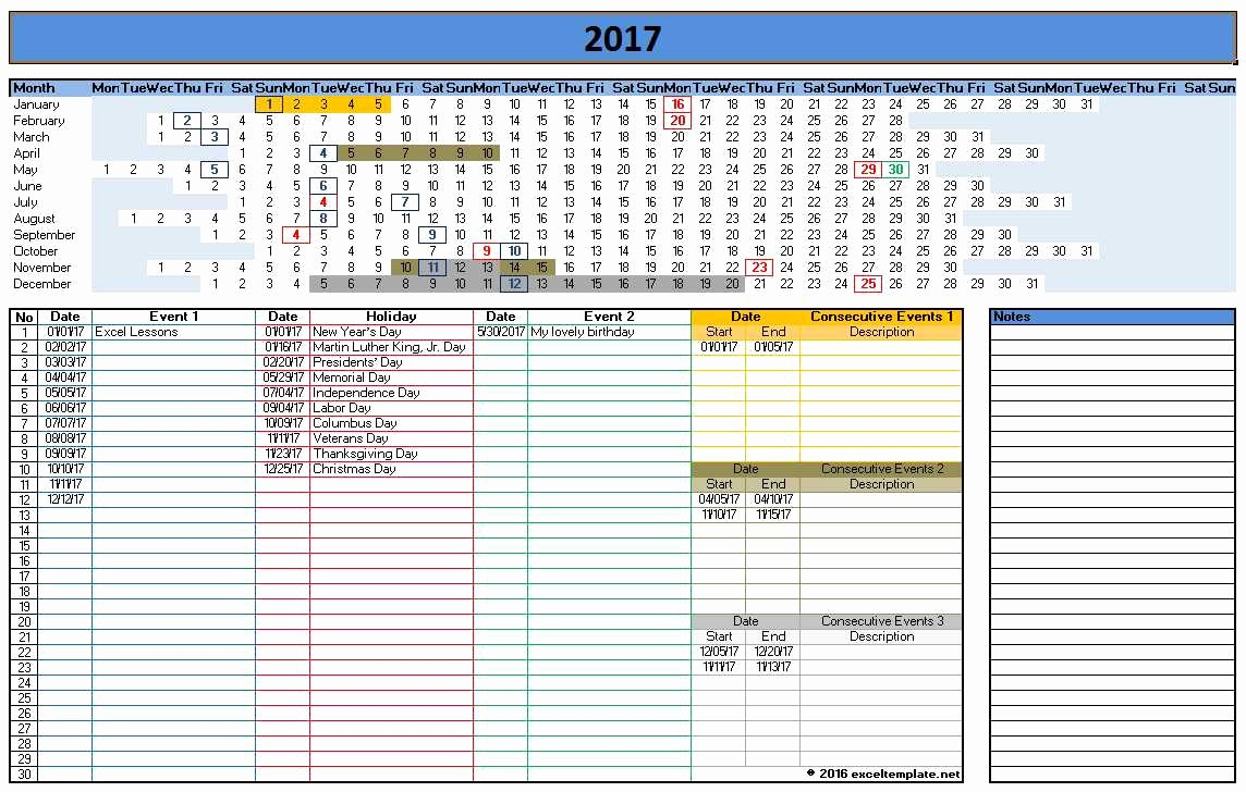Microsoft Office Calendar Template 2017 Fresh 2017 Calendar Templates
