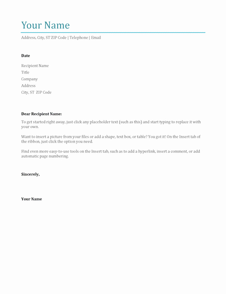 Microsoft Office Cover Letter Templates Elegant Cover Letter Blue