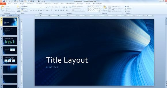Microsoft Office Free Powerpoint Templates Luxury Free Tunnel Powerpoint Background and Technology Template