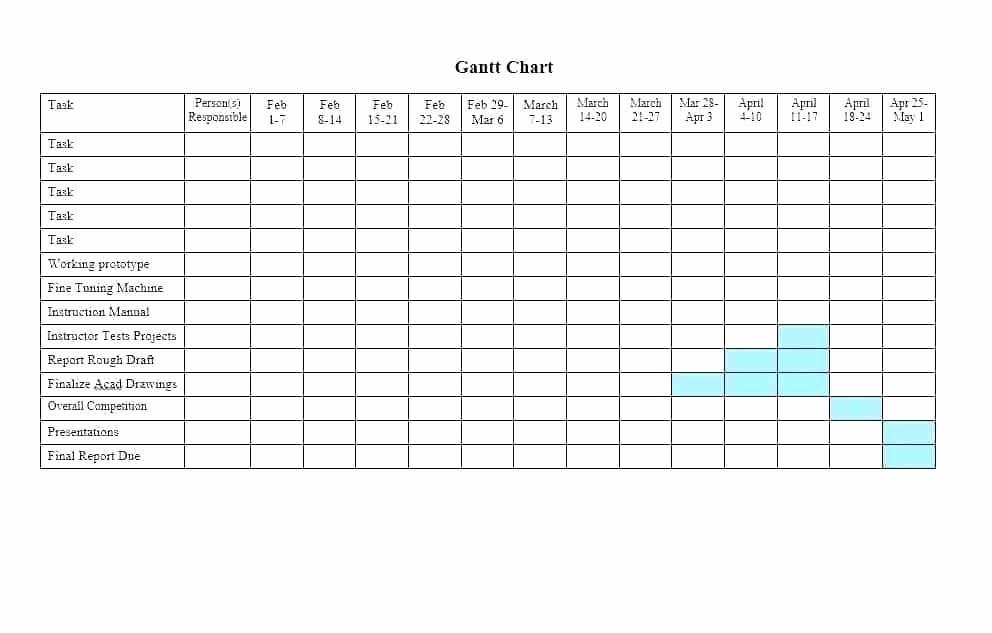 Microsoft Office Gantt Chart Templates Elegant Gantt Chart Template Microsoft Word 2010 E and In Excel