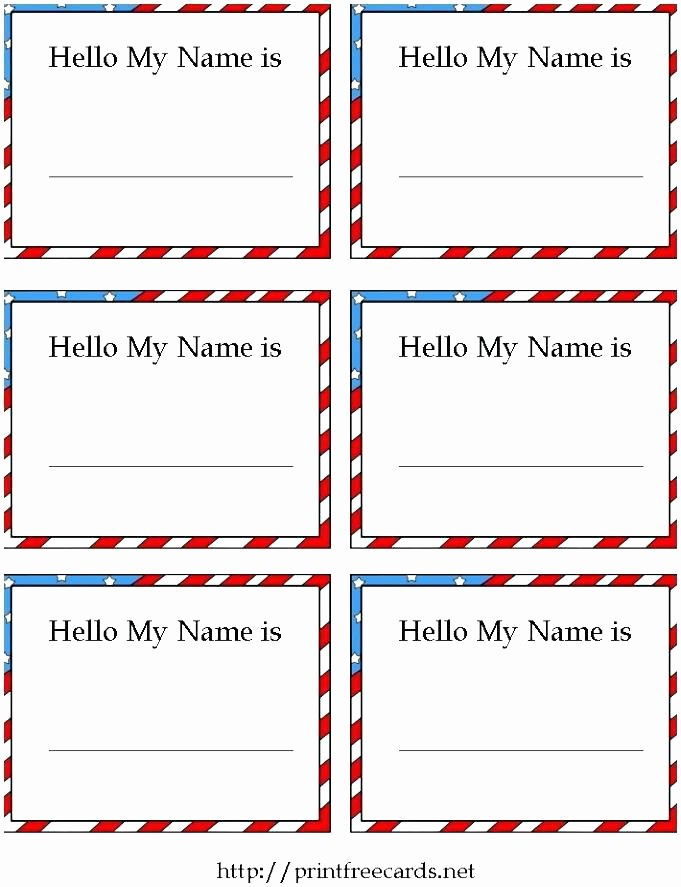 Microsoft Office Gift Tag Template Awesome Printable Name Tag Template Tags for Classroom Desks Table