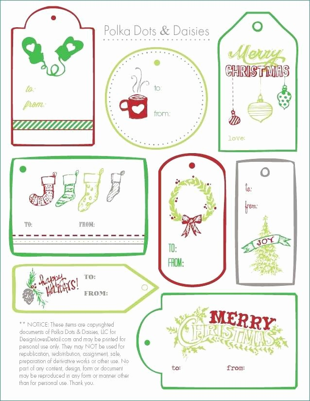 Microsoft Office Gift Tag Template Beautiful Christmas Present Labels Templates Awesome 6 Best Free