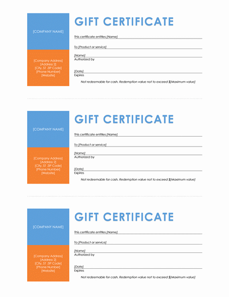 Microsoft Office Gift Tag Template Best Of Download Gift Certificates Templates for Microsoft Fice