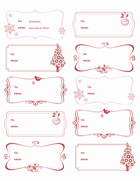 Microsoft Office Gift Tag Template Best Of Download Template for Microsoft Fice 2003 2007 2010 2013