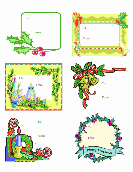 Microsoft Office Gift Tag Template Elegant 7 Useful Christmas Cards Christmas Cards